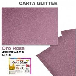 Carta Glitter ORO ROSA...