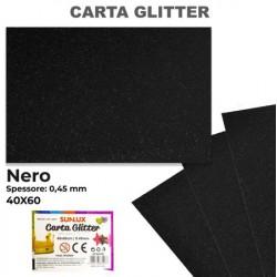 Carta Glitter NERO 40x60cm...