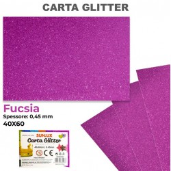 Carta Glitter FUCSIA...
