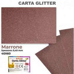 Carta Glitter MARRONE...