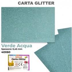 Carta Glitter VERDE ACQUA...