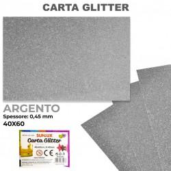 Carta Glitter ARGENTO...