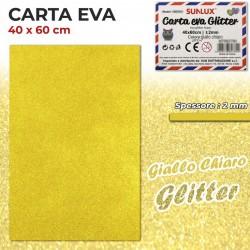 Carta EVA Glitter GIALLO...