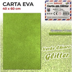 Carta EVA Glitter VERDE...