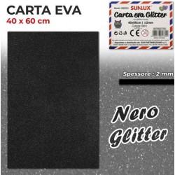 Carta EVA Glitter NERO...