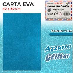 Carta EVA Glitter AZZURRO...