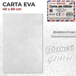 Carta EVA Glitter BIANCO...
