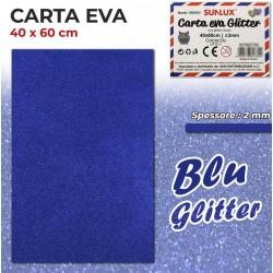 Carta EVA Glitter BLU...