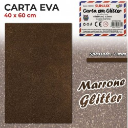 Carta EVA Glitter MARRONE...
