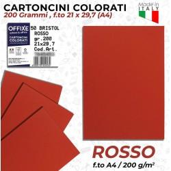 Cartoncini ROSSI 200 gr in...