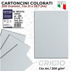 Cartoncini GRIGIO 200 gr in...