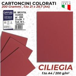 Cartoncini CILIEGIA 200 gr...