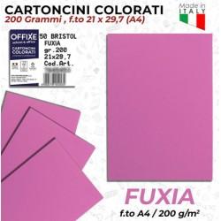 Cartoncini FUXIA 200 gr in...