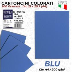Cartoncini BLU 200 gr in...