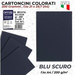 Cartoncini BLU SCURO 200 gr...