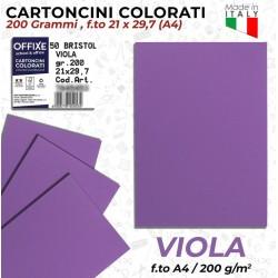 Cartoncini VIOLA 200 gr in...