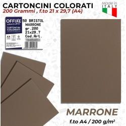 Cartoncini MARRONE 200 gr...