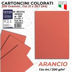 Cartoncini ARANCIO 200 gr...