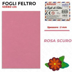 Foglio Feltro 60x40cm, Rosa...
