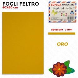 Foglio Feltro 60x40cm, Oro,...