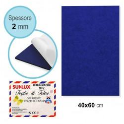 Feltro Adesivo 40x60cm, Blu...