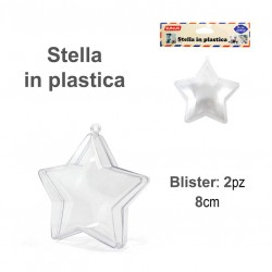 Stella in plastica 2pz 8cm...