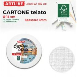 Cartone Telato Tondo 15cm...