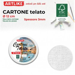 Cartone Telato Tondo 12 cm...