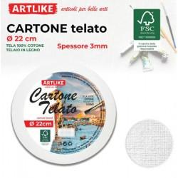 Cartone Telato Tondo 22cm...