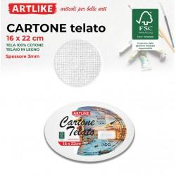 Cartone Telato Ovale 16x22...