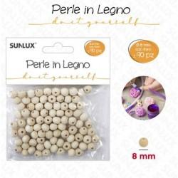 Perle in legno con foro 8...