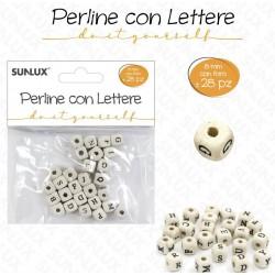 Perline con lettere 8 mm -...