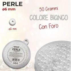Perle con foro 6 mm - 50 gr