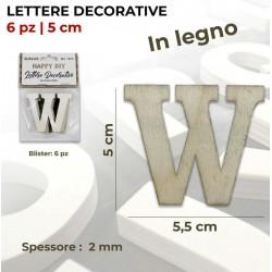 Lettera W decorativa in...
