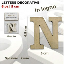 Lettera N decorativa in...