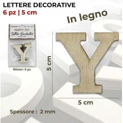Lettera Y decorativa in...