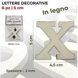 Lettera X decorativa in...