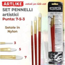 Set 3 Pennelli Artistici...