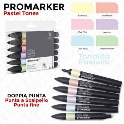 Promarker 6 Pastel Tones,...