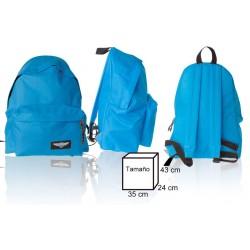 Zaino Colore Azzurro 35x24x43