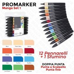 Promarker Manga Set 1, 12...