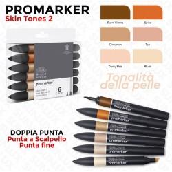 Promarker 6 Skin Tones 2,...