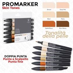 Promarker 6 Skin Tones,...