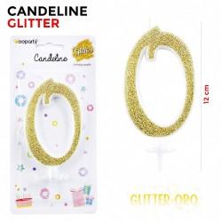 Candeline Glitter Oro N.0...