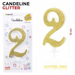 Candeline Glitter Oro N.2...