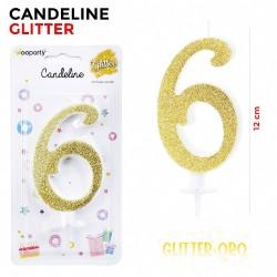 Candeline Glitter Oro N.6...