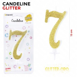 Candeline Glitter Oro N.7...