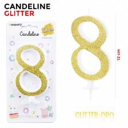 Candeline Glitter Oro N.8...