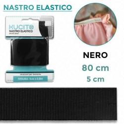 Nastro elastico Nero - h 5...