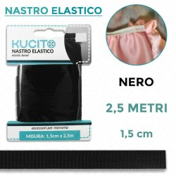 Nastro elastico Nero - h...